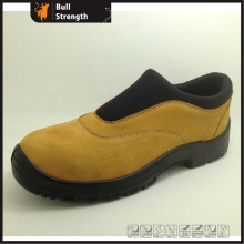 Nubuck Leather Slip-on Safety Shoe with PU/PU Outsole (SN5494)
