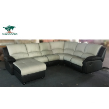 2021 Leather Manual Manual Recliner Modern Furniture Manufacturer Leather Corner Sofa