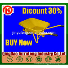 WB6400 hot sale heavy duty large China Wheelbarrow supplier garden use large wheelbarrow