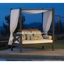 Banquette-lit Sofa Set Patio extérieur meubles en rotin jardin osier