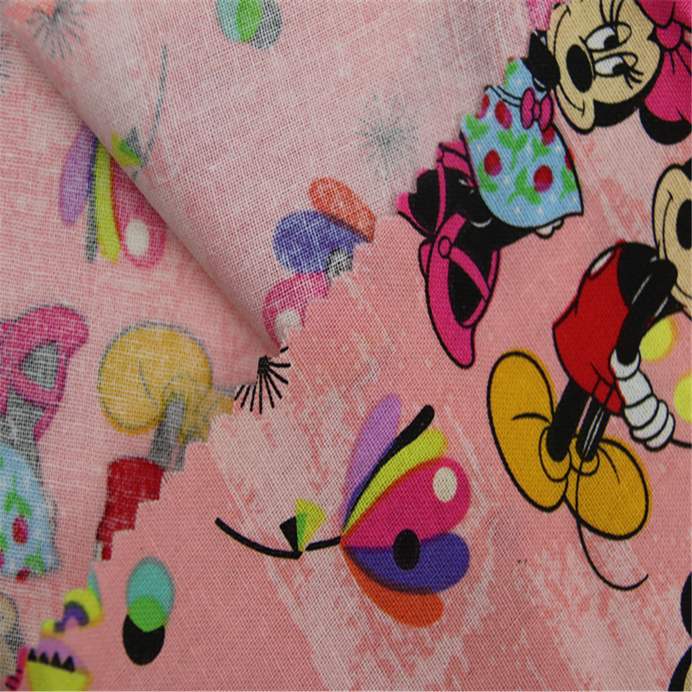 Mickey Cartoon Print Fabric
