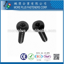 Сделано в Тайване Т10 черный TORX привод с полукруглой головкой M3x10 винт безопасности