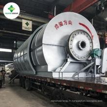 Usine de distillation d'huile utilisée de capacité 10T différente pour le diesel synthétique