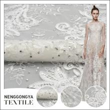 Venta caliente al por mayor de la boda de la manera diseños de bordado con piedras