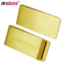 Promotion metal golden money clip