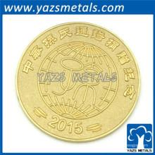 Gold überzogene kundenspezifische Münzenmetall preiswerte challeage Münzenfabrik