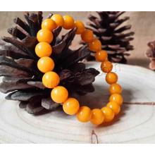 2015 Gets.com Природный янтарный браслет, медный балтийский янтарь, с эластичной нитью, круглый, 8,5 мм