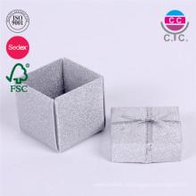 Heißes Verkaufssatz von 2 Papierringkasten mit Seidenband