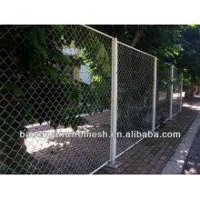 Revestimiento de PVC utilizado valla de enlace de cadena con postes