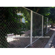 PVC coated used chain link fence with posts