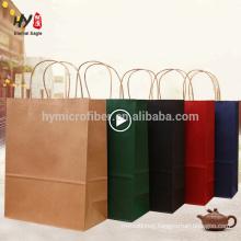 Hot selling custom logo printing recycle kraft paper shopping bag