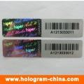 3D Laser Custom Barcode Hologram Sticker