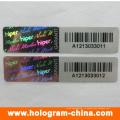 Анти -- фальшивки лазера 3D черный серийный номер голограммы стикер