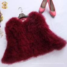 Vino rojo pavo de Turquía abrigo de pieles de moda europea abrigo de invierno