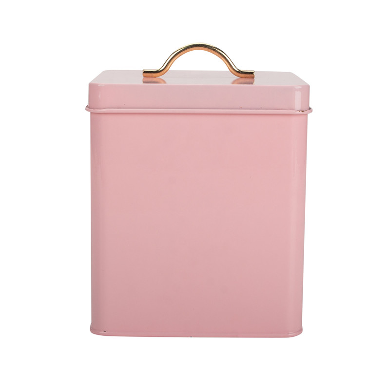Laundry Powder Pink Storage Tin