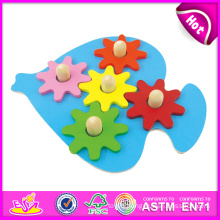 2014 New Kids Wooden Gear Set Toy, Popualr Cute Children Gear Set Toy, Hot Sale Lovely Baby Wooden Gear Set Toy W13e037