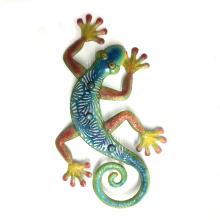 Garden Color Stone Eye Gecko Rough Metal Wall Art Decoration