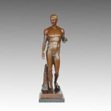 Nude Statue Strong Male Bronze Sculpture TPE-579