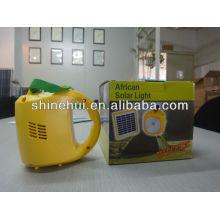 Lámpara solar portátil de alta calidad LED de precio bajo práctico portátil con cargador inverso