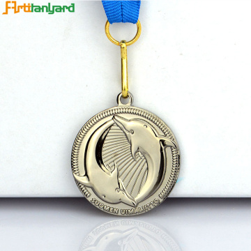 Design de clientes Fashion Metal Silver Medal