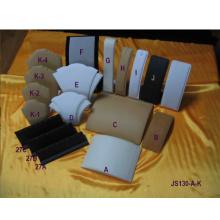 Diseños colgantes de moda de los soportes de exhibición del collar de la PU (JS130-AK)