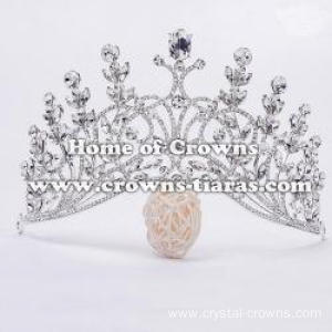 Vintage Crystal Pageant Queen Crowns In Curved Band