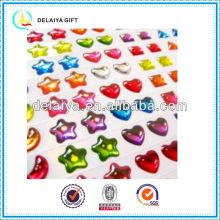 colorful clear epoxy sticker
