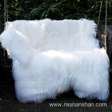 White Color Mongolian Fur Tibetan Lamb Fur Rugs