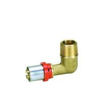 Codo masculino (ajuste de la prensa de TH) (Hz8512) para la pipa plástica de Ktm Aluminuim