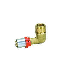Male Elbow (TH Press Fitting) (Hz8512) for Ktm Aluminuim Plastic Pipe