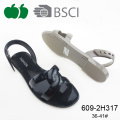 Alta qualità moda fantasia Ladies Pvc Jelly Sandals piatta