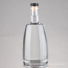 Vente en gros de 750 ml d'impression givrée Wine Liquor Spirit Glass Bottle, Vodka Glass Bottle