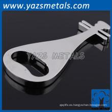 llavero de la promoción del metal del acero inoxidable de la nota de la música del oem