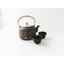 Cast Iron Enameled Tea Pot