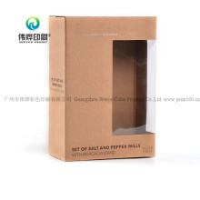 Customize Wholesale Mobile Power PVC Window Packaging Paper Box