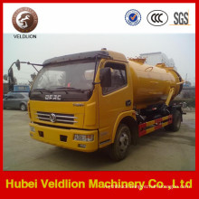 5m3 Tanker with Weilong Pump Dongfeng Vacuum Sewage Suction Truck