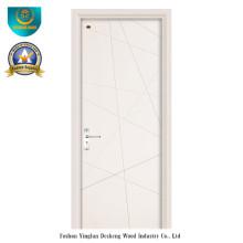 Puerta de madera de estilo moderno para interiores (HDF)