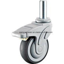 Medical Caster, with Plastic Houshing, TPR Wheels, Round Stem