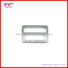 Brushed Nickel Rechteck Form Metall Slider für Kleidungsstück Zubehör