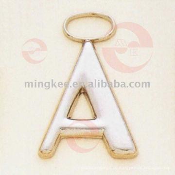 """Buchstaben- """"A"""" Zipper Puller / Slider (G8-159A)"""