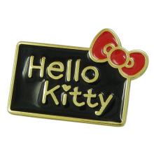 """Custom Cute """"Hello Kitty"""" Metal Purse Enamel Logo Tag"""