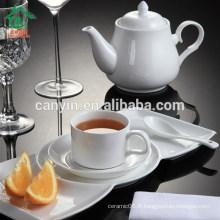 Plaques à dessert en porcelaine blanche à usage quotidien pour l'hôtel