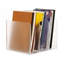 Vertical Desktop Clear Plastic Brochure Magazine Organizer Acrylic File Storage Box Holder