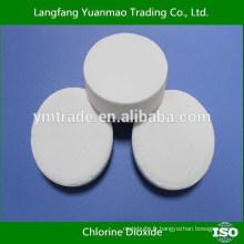 Tablette chimique à base de dioxyde de chlore pour piscines