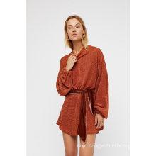 Mini Sweater Dress Features an Allover Lurex Shine