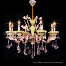 Empire style k9 cristal bougie lustre grand cristal bougie pendentif lumière 88626