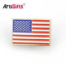 Servicio secreto del imán del esmalte de encargo Insignia del pin de la solapa de la bandera del americano Tejas india de los EEUU