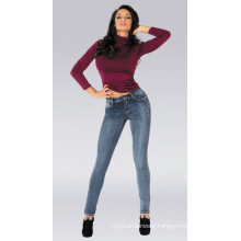 Lady Knit Jeans, Good Stretch Tight Women Jeans, Wholesale Women Jeans