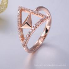Rose Gold Serviettenring 925 Sterling Silber echten Amethyst Ring