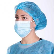 Masque médical jetable 3ply masque à usage unique